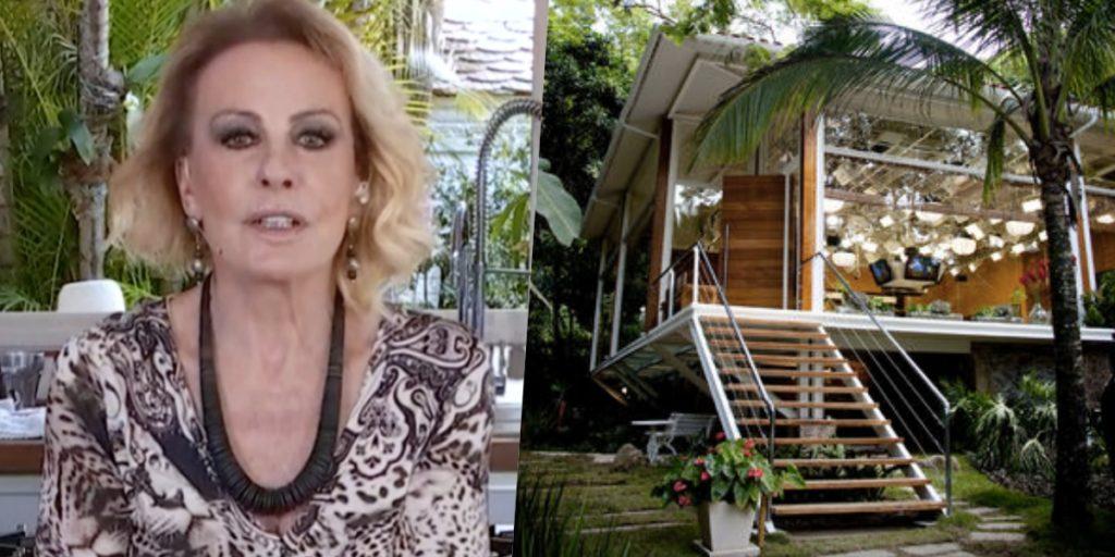 Ana Maria Braga e seu estúdio de vidro (Foto: reprodução/Globo)