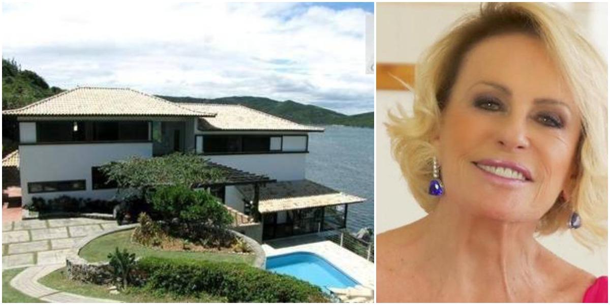 globo Ana Maria Braga colocou mansão em Arraial do Cabo à venda (Reprodução)