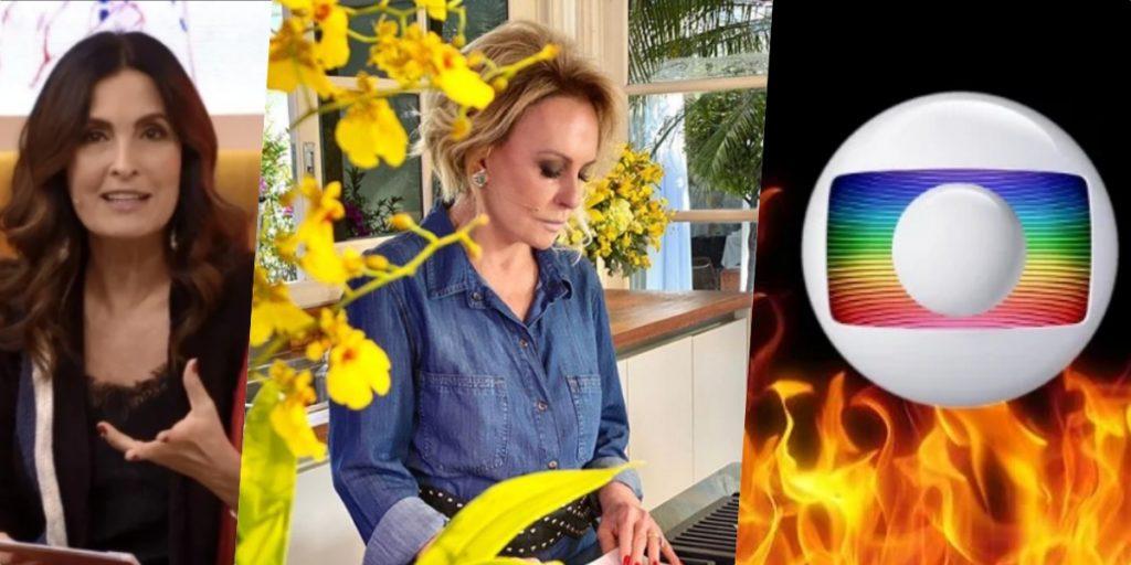 Fátima Bernardes teria pedido saída de Ana Maria de programa, diz jornalista (Foto montagem)