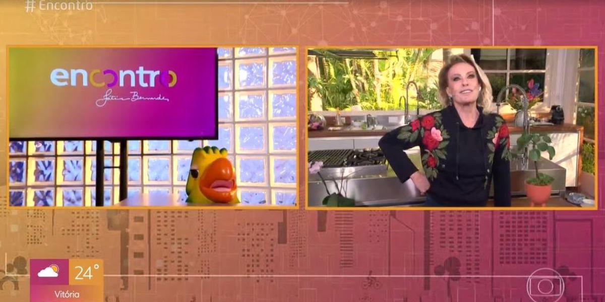 Ana Maria Braga e Louro José no Encontro de hoje (Foto: Reprodução/TV Globo)