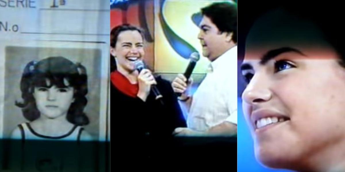 Ana Paula Arósio no Arquivo Confidencial do Domingão do Faustão (Foto: Reprodução/TV Globo)