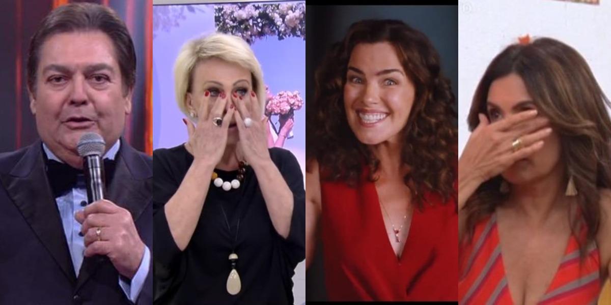 Faustão, Ana Maria Braga e Fátima Bernardes foram passados para trás por Ana Paula Arósio (Foto: Reprodução/TV Globo/Twitter)