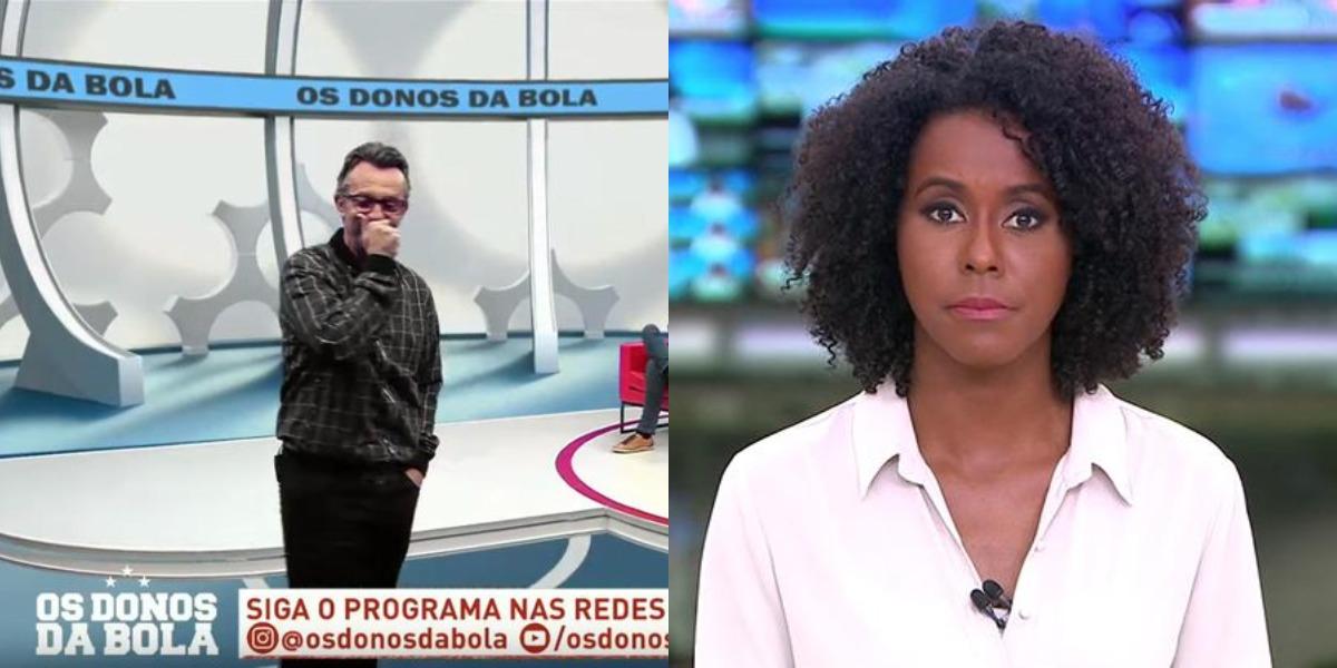 Os Donos da Bola e Jornal Hoje foram destaques de audiência (Foto: Reprodução/Band/TV Globo)