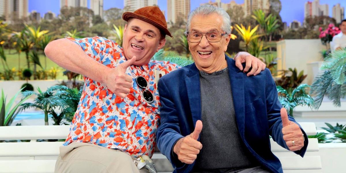 Batoré e Carlos Alberto de Nóbrega em A Praça é Nossa (Foto: Divulgação/SBT)