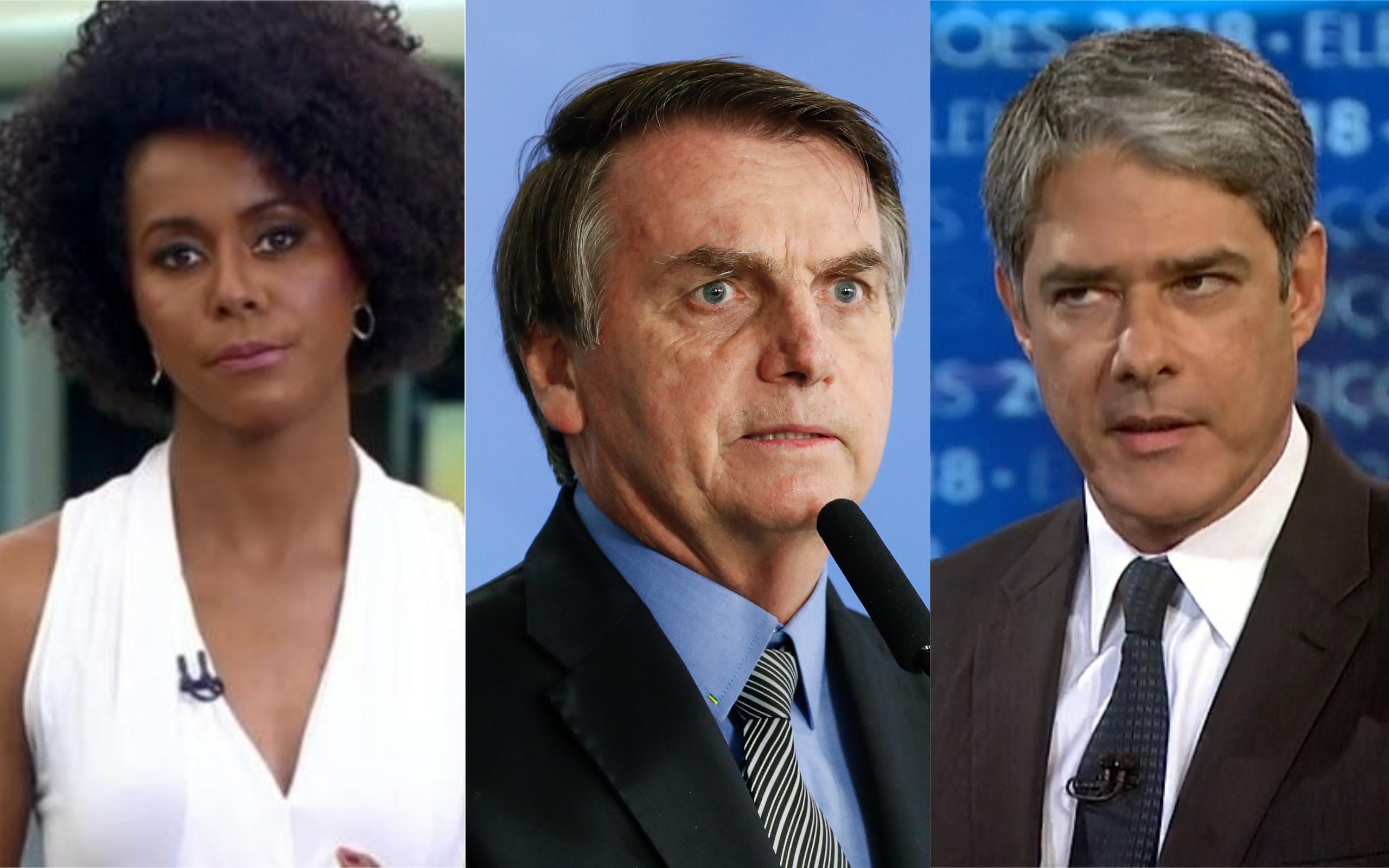 Bolsonaro não poupou críticas a Maju Coutinho e William Bonner (Foto: Divulgação)