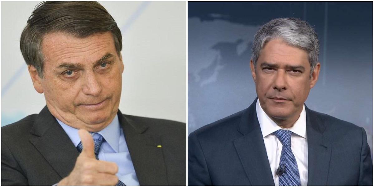 Bolsonaro disparou contra Bonner e a Globo - Foto: Montagem