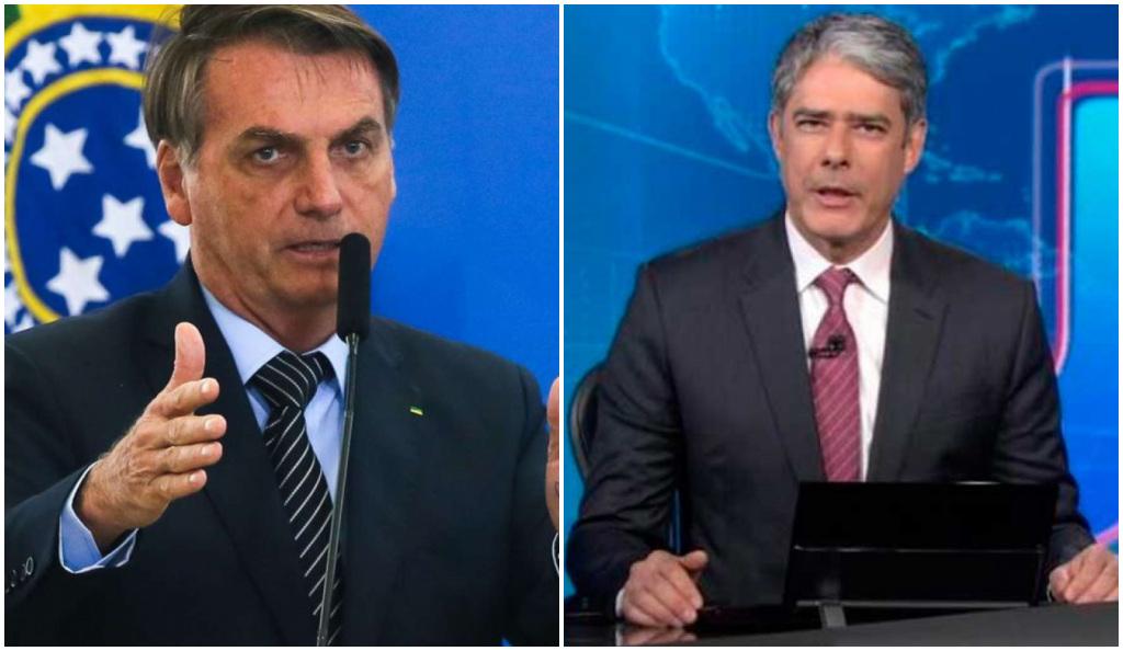 O presidente Jair Bolsonaro contra William Bonner e a Globo - Foto: Montagem