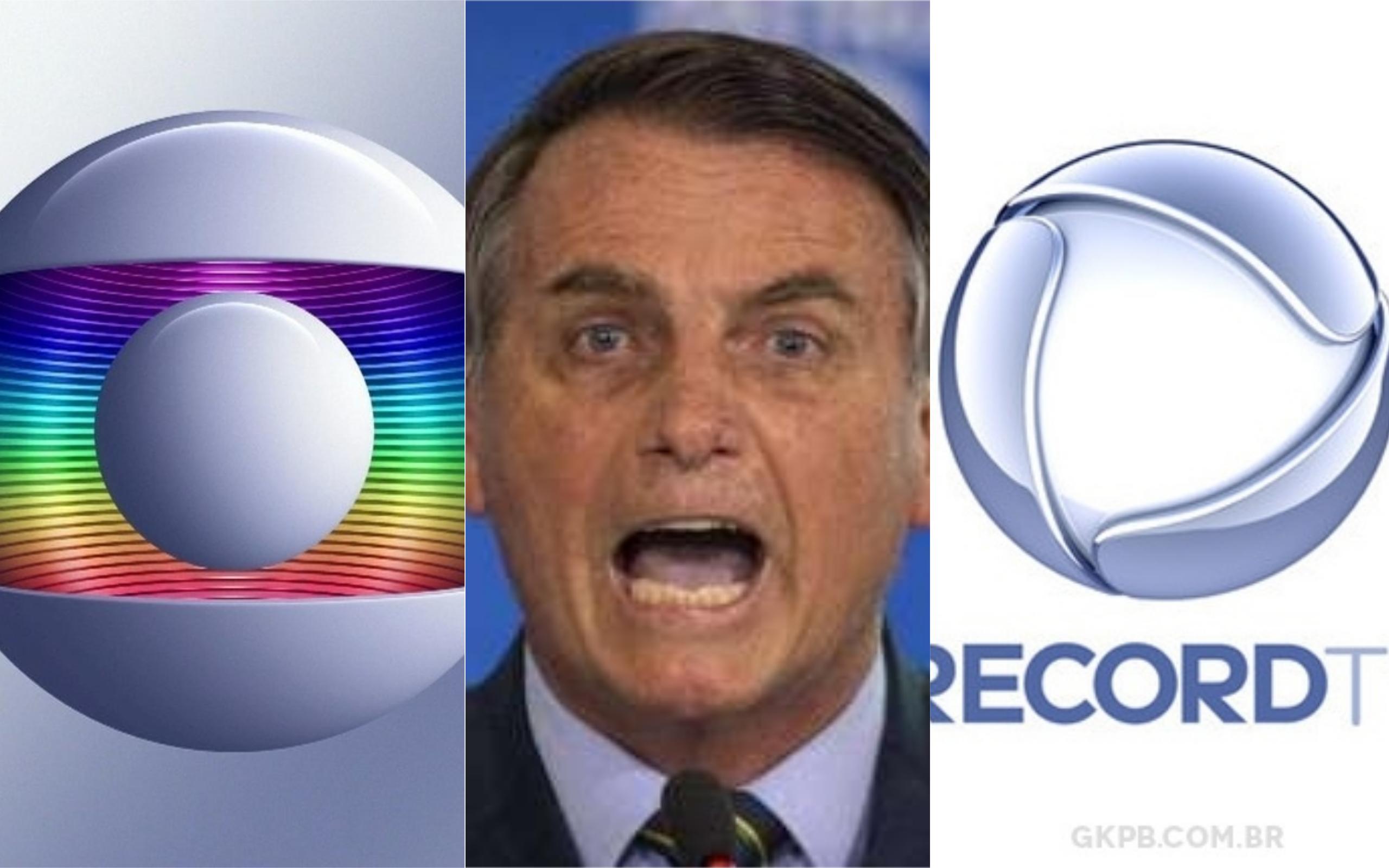 Bolsonaro e Record se unem contra a Globo (Foto: Divulgação)