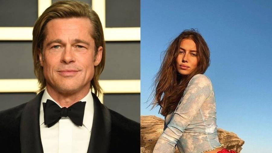 Brad Pitt e Nicole Poturalski (Foto: Reprodução)