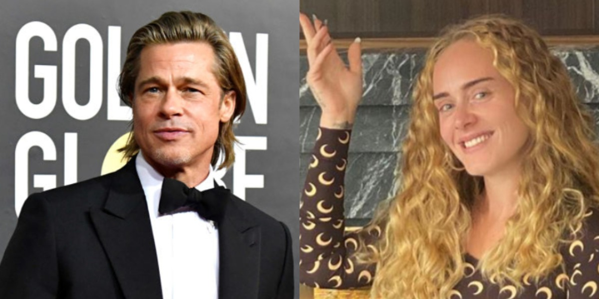Brad Pitt e Adele (Foto: Reprodução)
