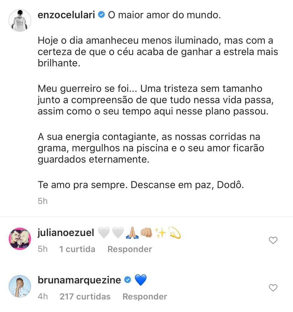 Bruna Marquezine deixou uma mensagem de conforto para o bonitão (Foto: Reprodução/ Instagram)