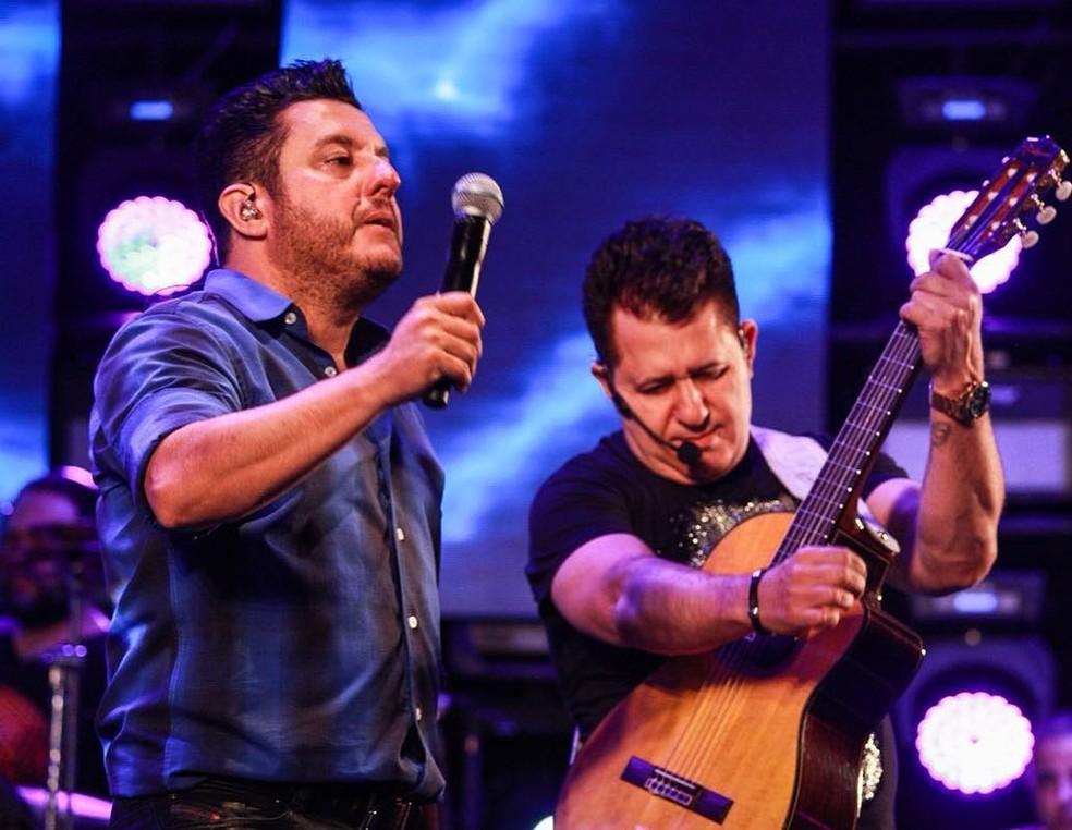 A dupla Bruno e Marrone durante apresentação - Foto: Reprodução