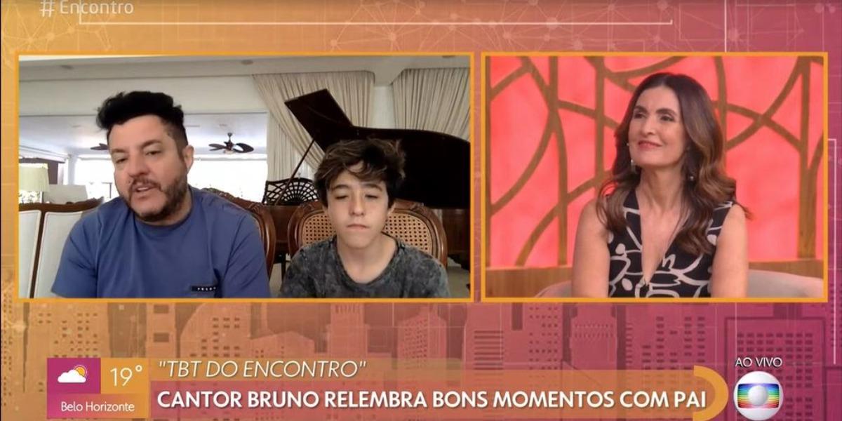 Bruno participou do programa Encontro Com Fátima Bernardes ao lado de Enzo Rabelo (Foto: Reprodução/TV Globo)