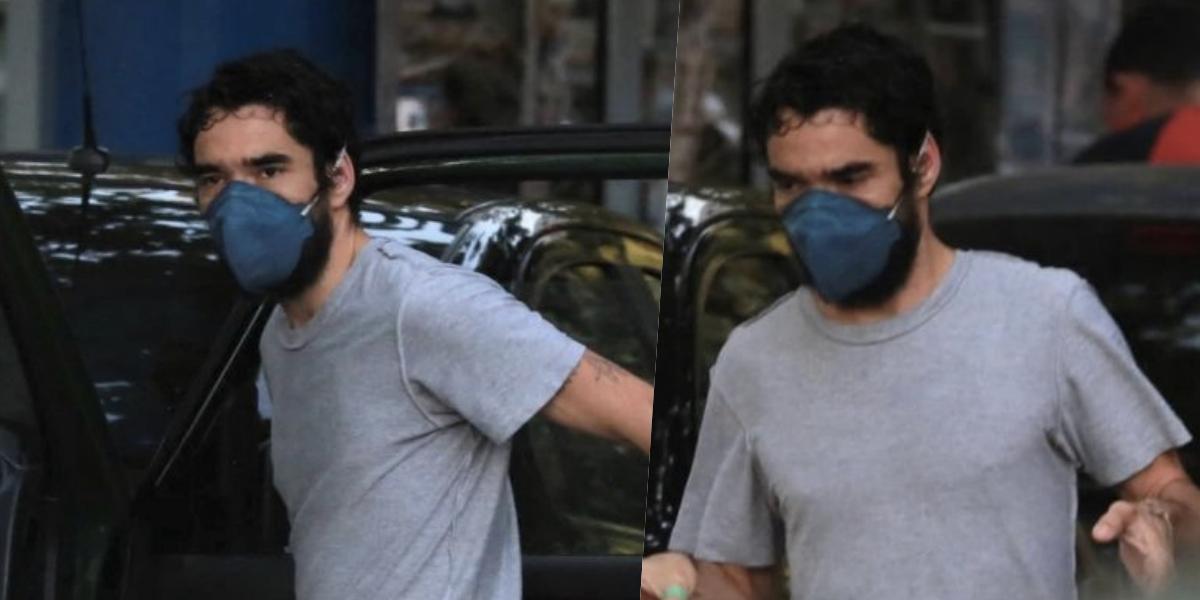 Caio Blat foi flagrado sem cueca em público (Foto: Denilson Silva /AgNews)