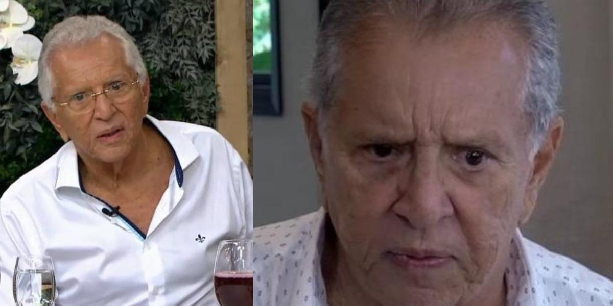 Carlos Alberto de Nóbrega abriu o coração ao jornalista Leo Dias (Foto: Reprodução/Gazeta)