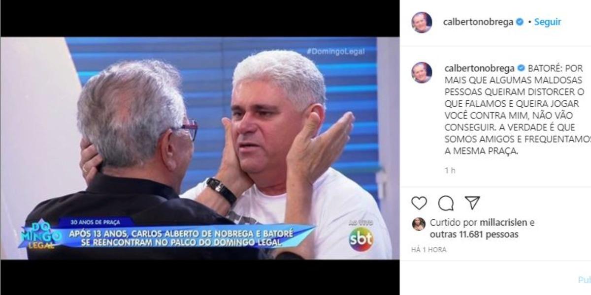Carlos Alberto de Nóbrega fez desabafo (Foto: Reprodução/Instagram)