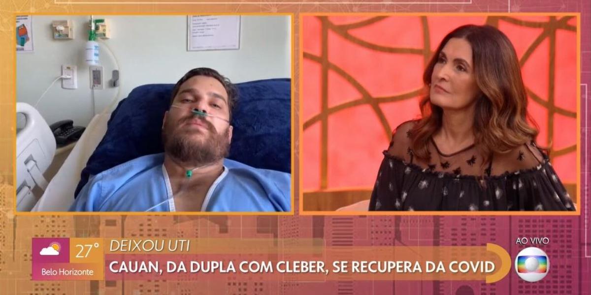 Cauan no Encontro Com Fátima Bernardes (Foto: Reprodução/TV Globo)