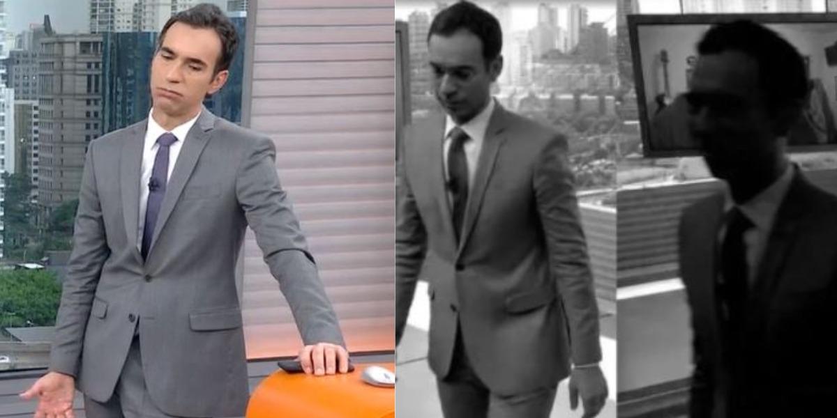 """Cesar Tralli apagou as luzes no """"SP1"""" após morte de Rodrigo Rodrigues (Foto: Reprodução/TV Globo)"""