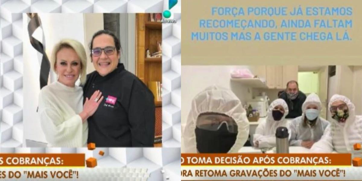 A cacique Márcia, do Mais Você, voltou ao trabalho (Foto: Playback / RedeTV! / TV Globo / Instagram)