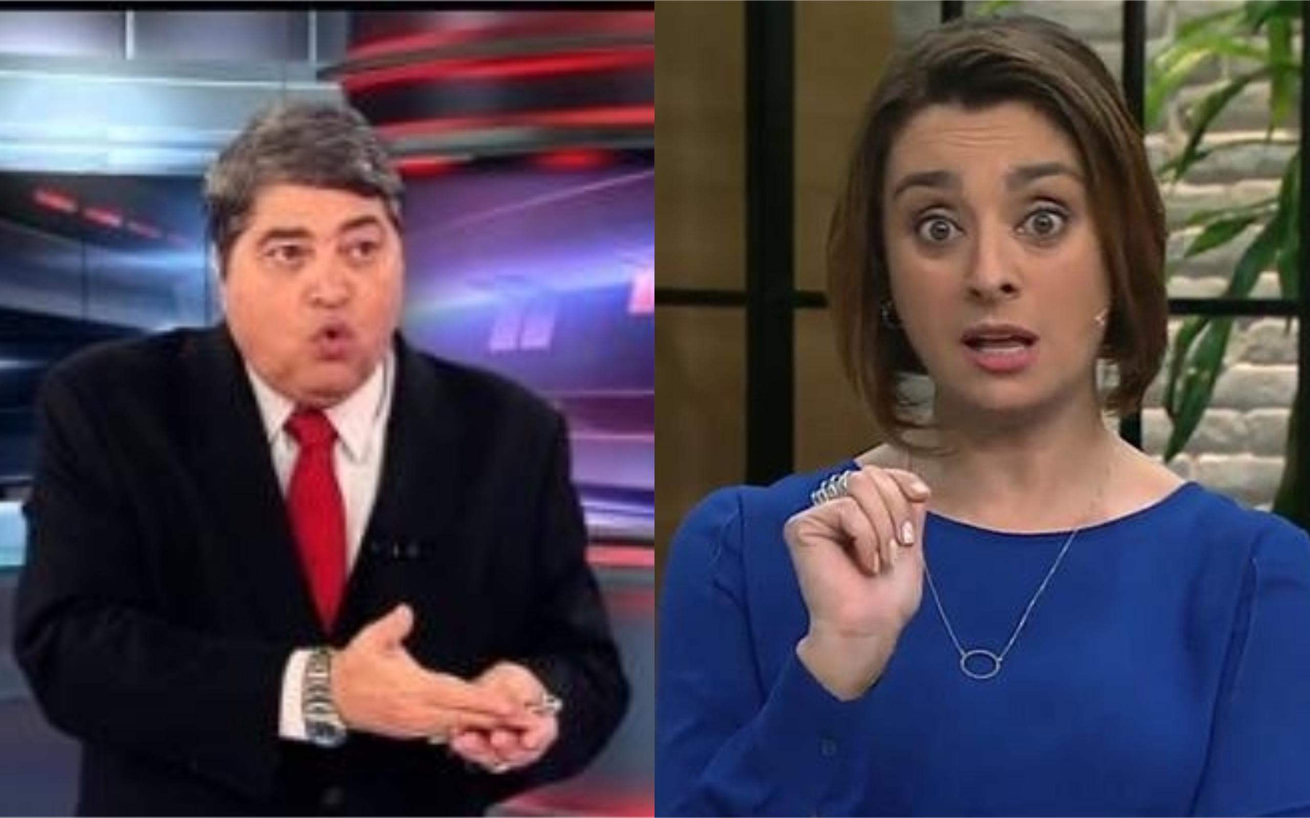 Datena e Cátia Fonseca (Foto: Divulgação)