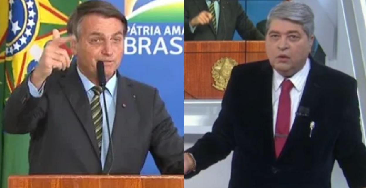Datena manda recado para Bolsonaro (Foto: Montagem)