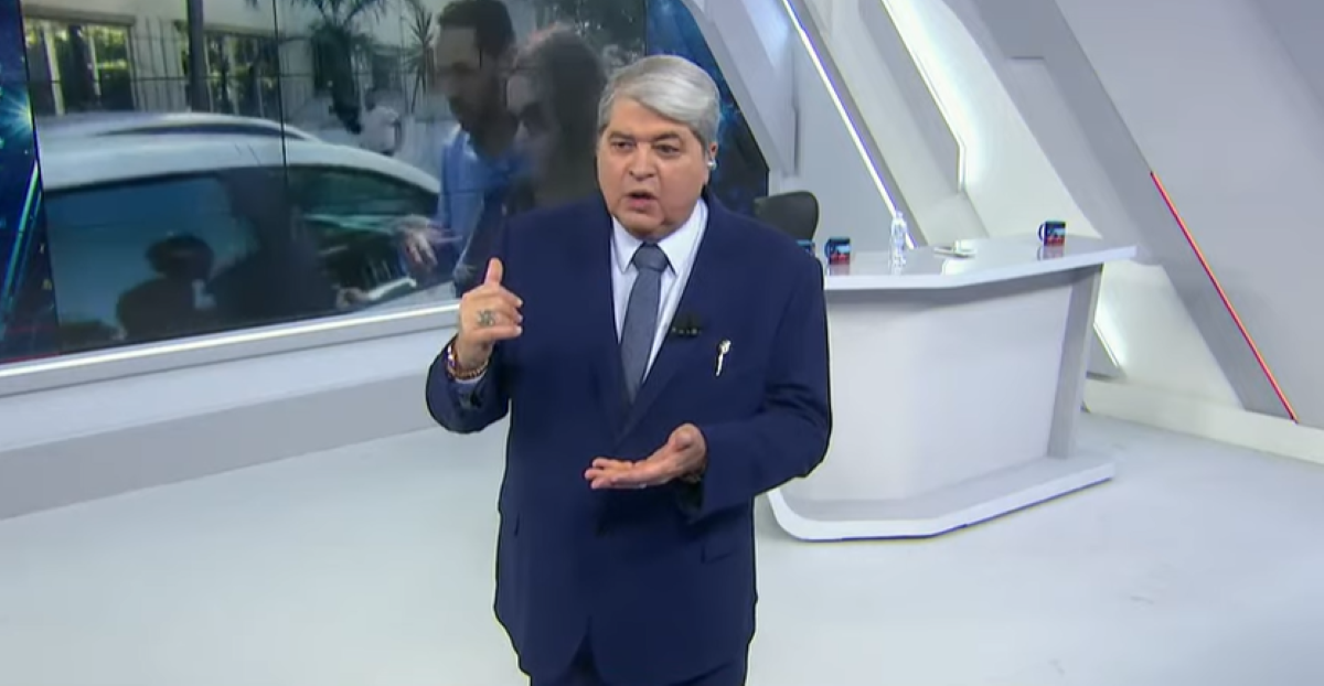 Datena critica ao vivo produção do Brasil Urgente (Foto: Reprodução)
