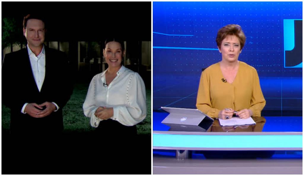 Domingo Espetacular e Jornal da Record em nova troca - Foto: Montagem