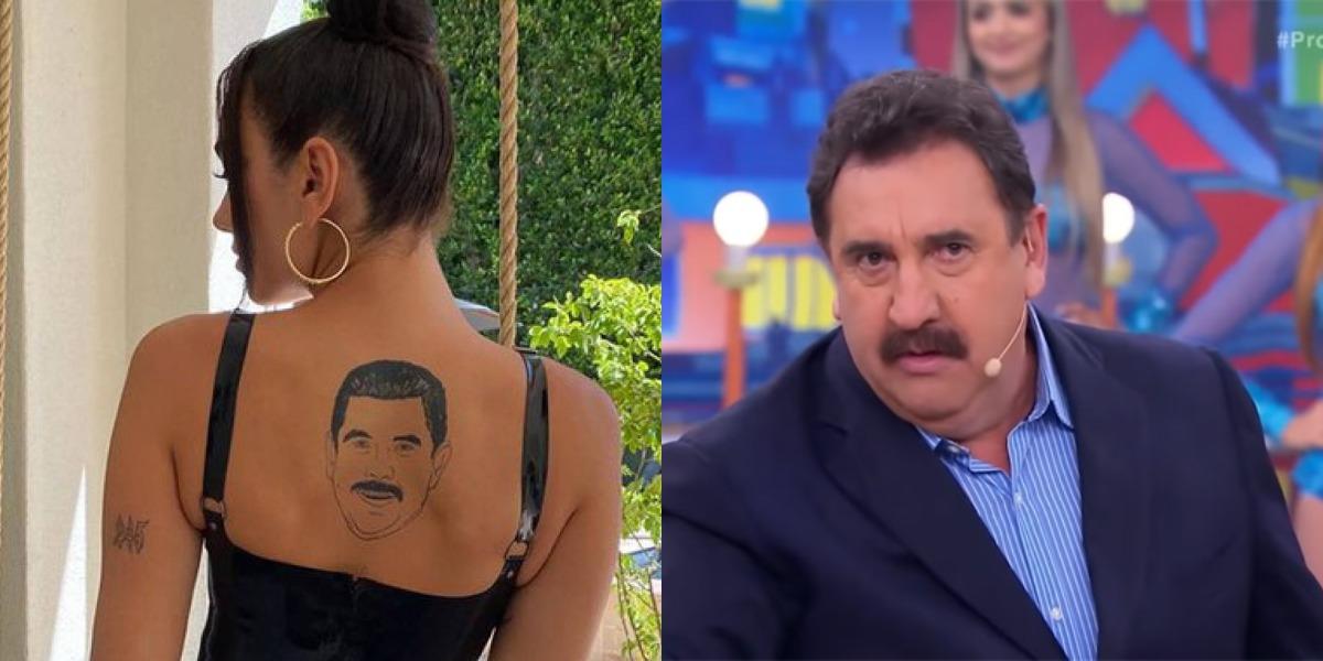 Dua Lipa 'tatuou' Ratinho (Foto: Reprodução/Instagram/SBT)