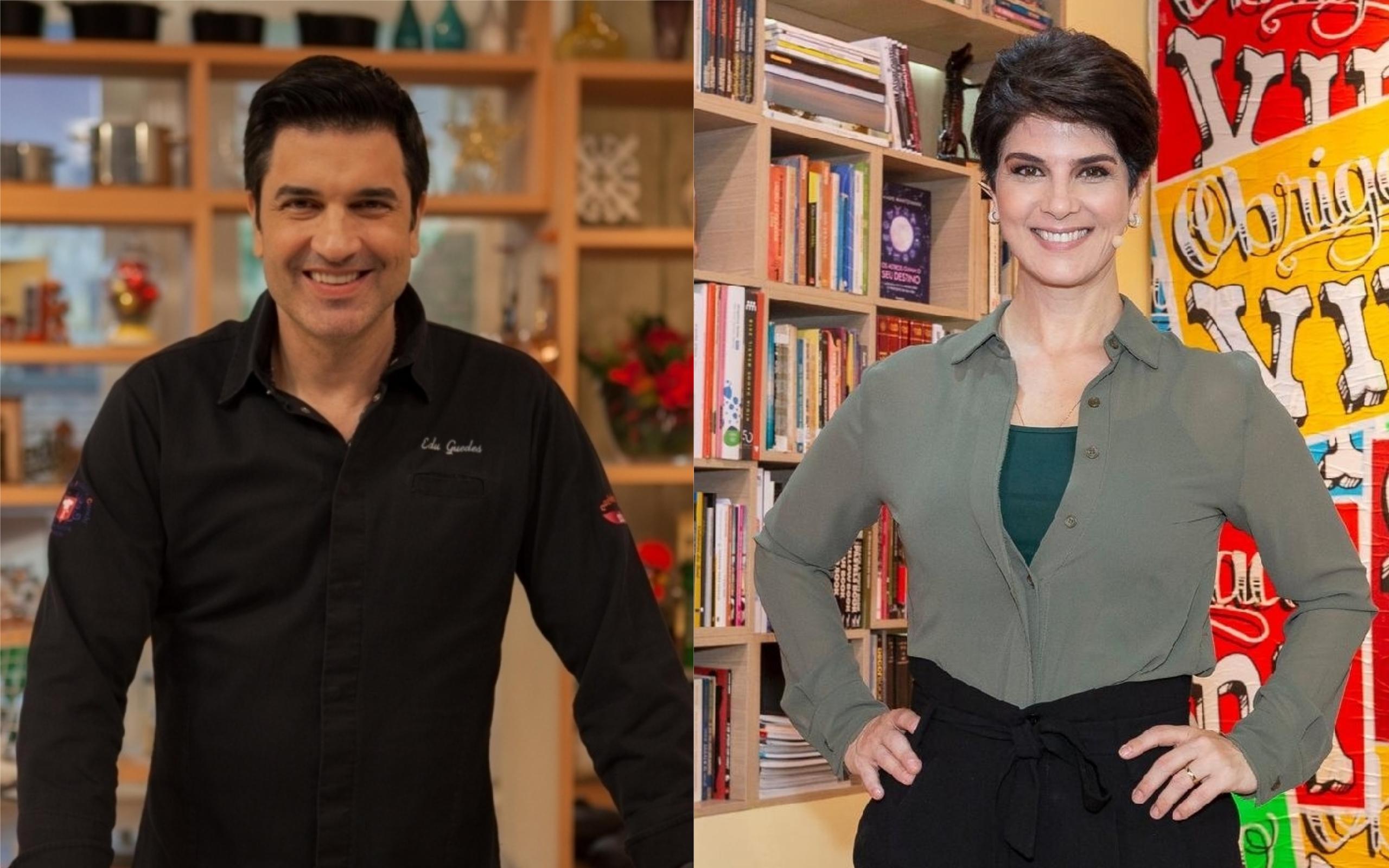Edu Guedes e Mariana Godoy vão trabalhar juntos na Band (Foto: Divulgação)