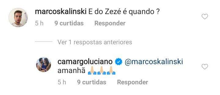 Luciano Camargo responde pergunta sobre o irmão, Zezé (Foto: Reprodução/ Instagram)