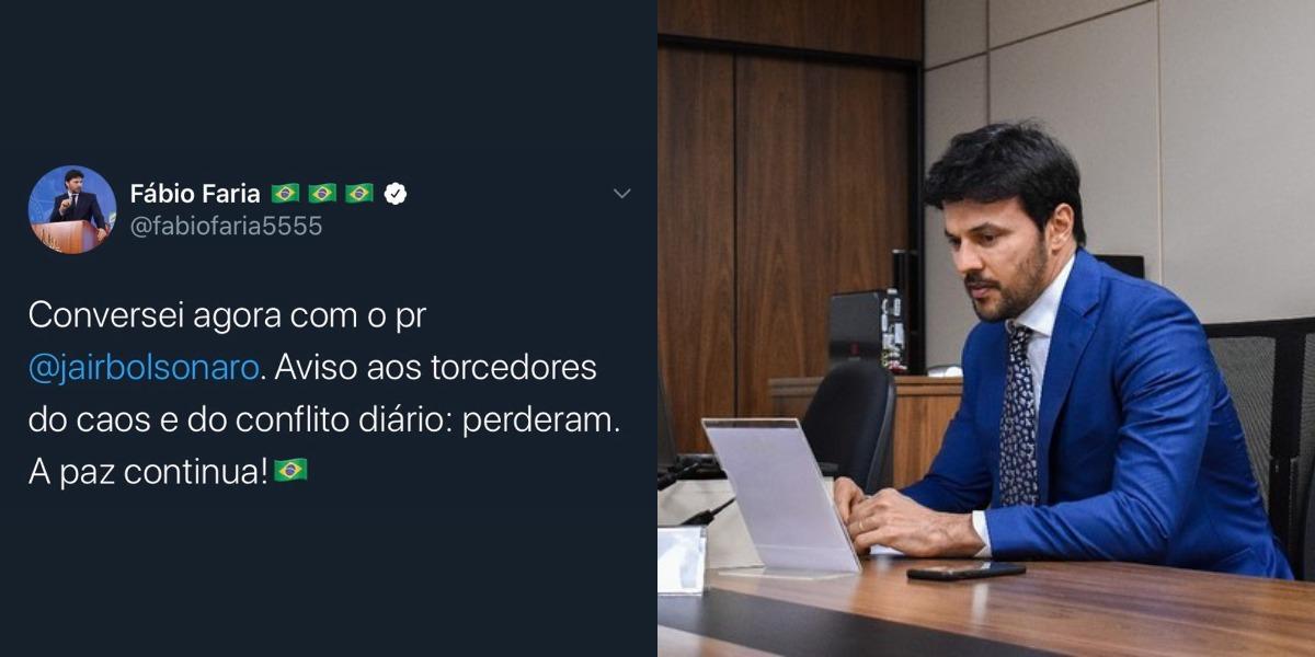 Fábio Faria fez pronunciamento em suas redes sociais (Foto: Reprodução/Instagram)