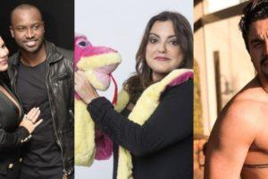 Fabíola Reipert já se envolveu em polêmicas com Thiaguinho, Fernanda Souza, Luan Santana e Larissa Manoela (Foto: Reprodução/Record/Divulgação/Instagram)