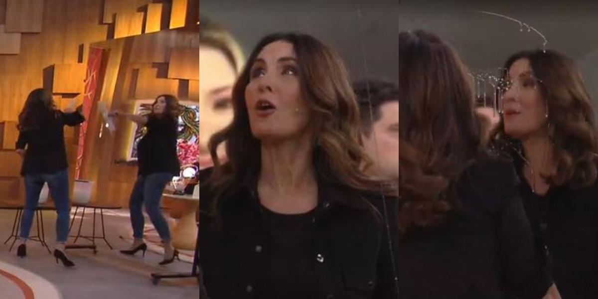 Fátima Bernardes se divertiu no Encontro de hoje (Foto: Reprodução/TV Globo)
