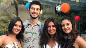 Fátima Bernardes com Bia Bonemer, Vinícius e Laura (Foto: Reprodução/Instagram)