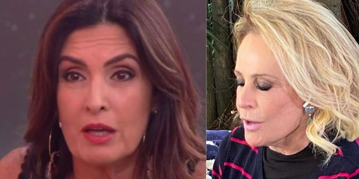 Fátima Bernardes e Ana Maria Braga vivem rixa nos bastidores (Foto: Reprodução/TV Globo)