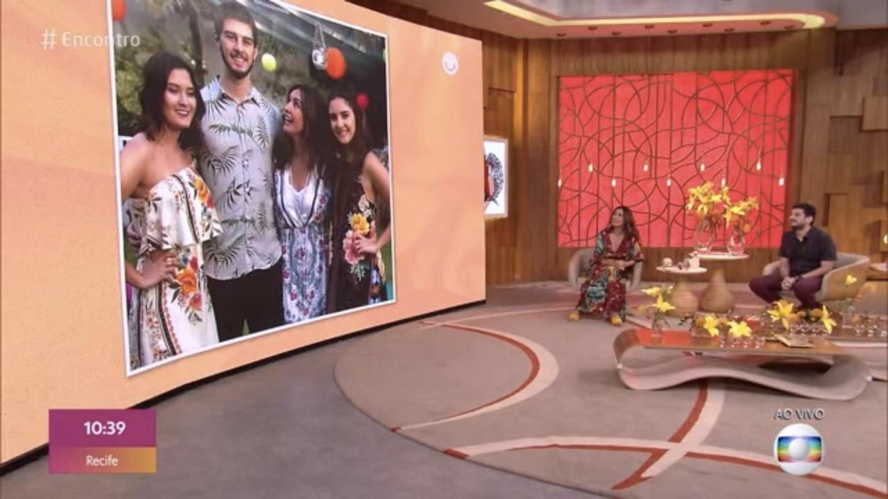 Fátima Bernardes foi exposta no 'Encontro' (Foto: reprodução/Globo)
