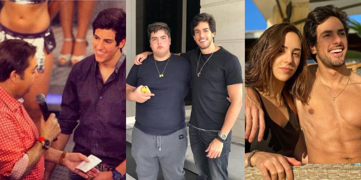 Julinho Casares no Domingão do Faustão em 2013 na 1ª foto, com João Silva na 2ª e Lara Silva na 3ª (Foto: Reprodução/TV Globo/Instagram)