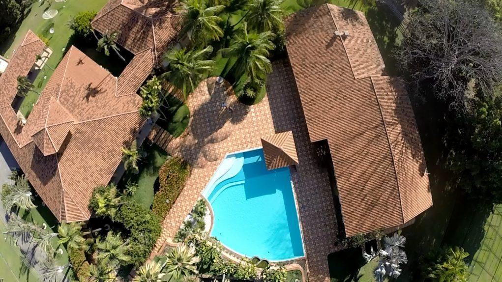 Vista área da piscina (Foto: Reprodução)