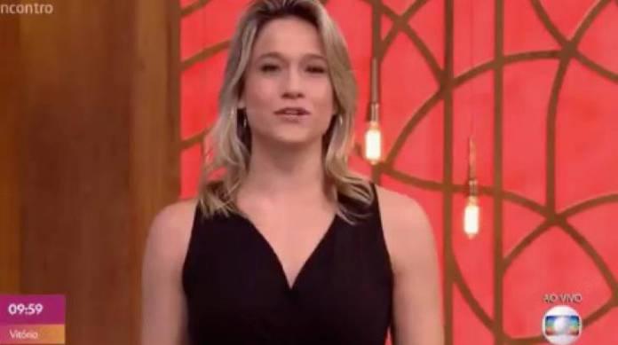 Fernanda Gentil foi surpreendida na Globo - Foto: Reprodução