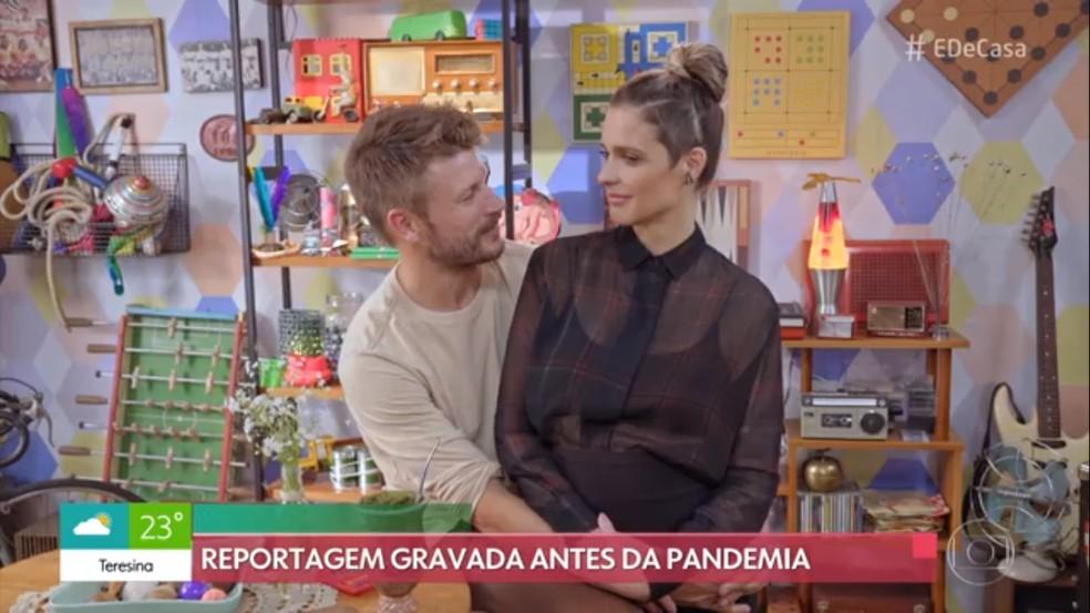 Rodrigo Hilbert e Fernanda Lima no programa É de Casa - Foto: Reprodução