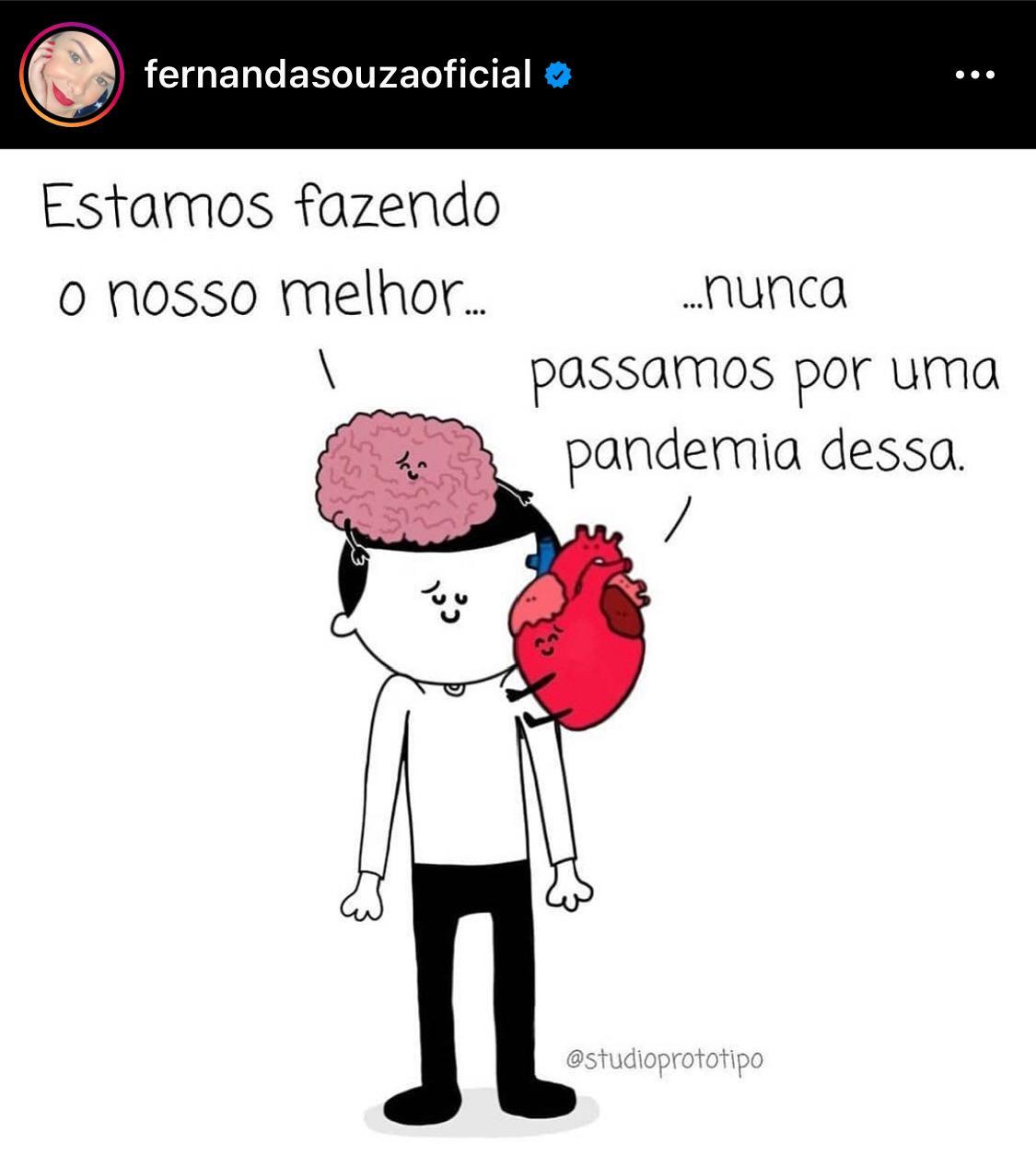 Fernanda Souza compartilha publicação (Foto: Reprodução)