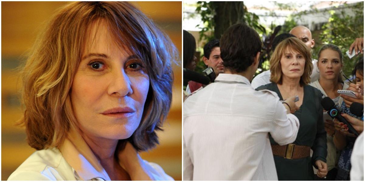 Danielle em cena da novela Fina Estampa - Foto: Montagem