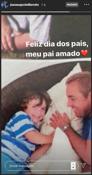 Filho de Gugu Liberato comove fãs com homenagem para o falecido pai - (Arquivo Pessoal)