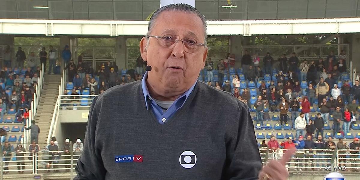 Galvão Bueno em transmissão da Fórmula 1 na Globo; emissora deixará de exibir a competição (Foto: Reprodução/Globo)
