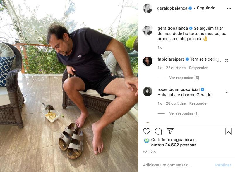 Publicação de Geraldo Luís (Foto: reprodução/Instagram)