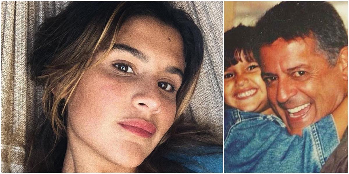 Giulia Costa ao lado do pai, Marcos Paulo (Reprodução)