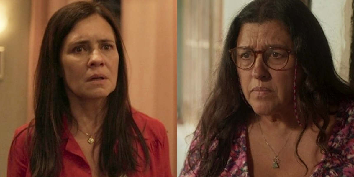 Adriana Esteves (Thelma) e Regina Casé (Lurdes) em Amor de Mãe, que tem cenas secretas para 2ª fase (Foto: Reprodução/Globo)