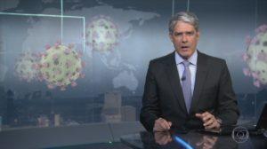 Wiliam Bonner é quem anuncia os contaminados por Coronavírus na Globo - Foto: Reprodução