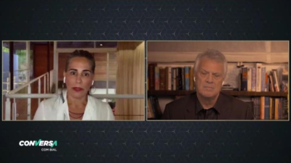 Glória Pires participou do Conversa com Bial (Foto: Reprodução/ Gshow)