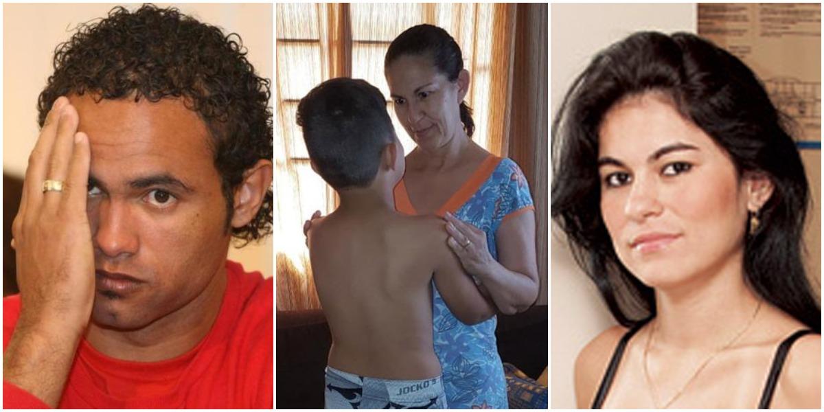 O goleiro Bruno foi condenado pelo assassinato de Eliza Samudio, mãe de seu filho, Bruninho (Reprodução)